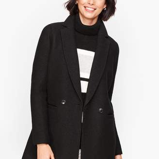 Talbots Long Boiled Wool Jacket
