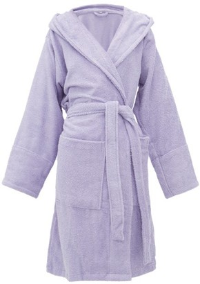 Tekla Hooded Cotton-terry Bathrobe - Purple