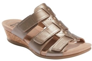 Earth Women's Pisa Harwich Low Wedge Slide Sandal Women's Shoes