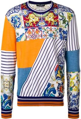 Dolce & Gabbana Majolica panelled sweatshirt
