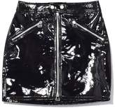 Rag & Bone Racer Skirt in Black Patent