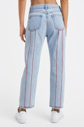 STILL HERE 100% Cotton Open Red Tate Jeans