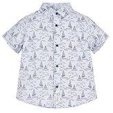 Mothercare Baby Boys Fpreppy White Boat Rib Collar Shirt Short Sleeve Shirt