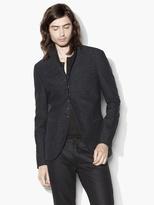 John Varvatos Textured Multi-Button Jacket