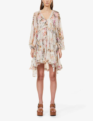 Zimmermann Zella floral-print silk-chiffon mini dress
