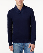 Tommy Hilfiger Men's Big & Tall Textured Shawl-Collar Sweater