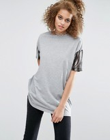 Asos T-Shirt with Stripe Sequin Sleeve