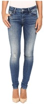 Mavi Jeans Adriana Mid-Rise Super Skinny in Mid Destructed Vintage Women's Jeans