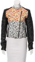 Yigal Azrouel Leather Printed Jacket