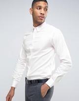 French Connection Semi Plain Birdseye Slim Fit Shirt