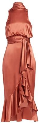 Cinq à Sept Winona Halterneck Midi Dress