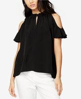 Rachel Roy Vanessa High-Neck Cold-Shoulder Top, Only at Macy's