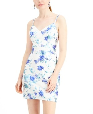 City Studios Juniors' Floral Bodycon Dress