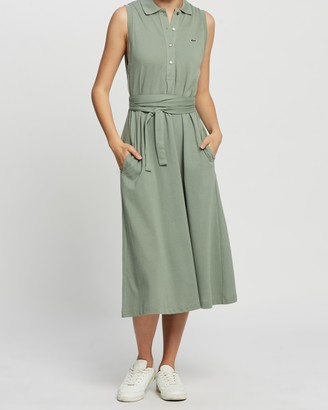 Lacoste Classic Sleeveless Belted Polo Dress