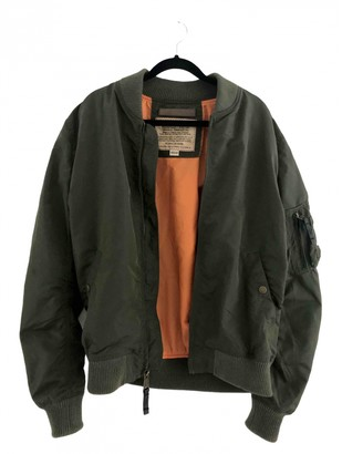 Alpha Industries Khaki Synthetic Leather jackets