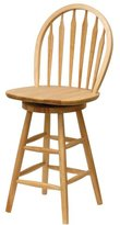Winsome Wood 24-Inch Windsor Swivel Seat Bar Stool