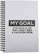 Fotomax Notebook with Quote about goal in life.