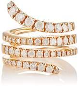 Roberto Marroni Women's Opaque-White Diamond Snake Ring