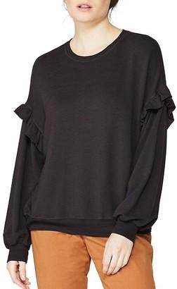 Monrow Supersoft Ruffle-Sleeve Sweatshirt