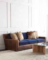 Massoud Darlene Leather Sofa