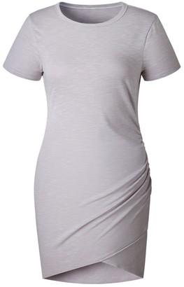 Goodnight Macaroon 'Valerie' Short sleeves T-Shirt Mini Dress (8 Colors)