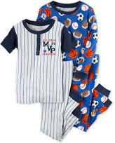 Carter's 4-Pc. All-Star MVP Pajama Set, Little Boys (2T-7) & Big Boys (8-20)