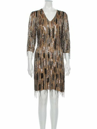 Naeem Khan Silk Mini Dress w/ Tags Silver