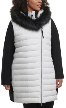 Calvin Klein Plus Size Hooded Sweater-Sleeve Jacket