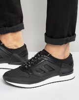 Asos Trainers In Black With Black Rubber Panelling