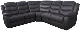 RothburyLuxury FauxLeather Manual Recliner Corner Group Sofa
