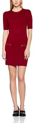 Dorothy Perkins Women's Zip Pocket Tunic Jumpers, (Red)