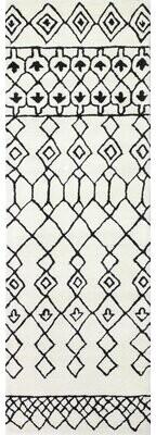 """Divina Brayden Studio Hand-Tufted Wool Ivory/Black Area Rug Brayden Studio Rug Size: Runner 2'6"""" x 8'"""