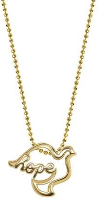 Alex Woo 14K Gold Hope Dove Pendant Necklace