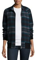 Rebecca Taylor Plaid Bomber Jacket, Navy