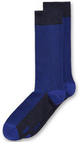 Bar III Men's Seamless Toe Patterned Mini-Check Dress Socks, Created for Macy's