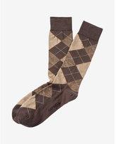 Express heather argyle dress socks