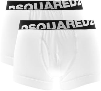 DSQUARED2 Underwear 2 Pack Trunks White