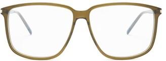 Saint Laurent Square Acetate Glasses - Green