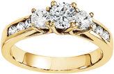 MODERN BRIDE 1/3 CT. T.W. Diamond 14K Yellow Gold Channel Set 3-Stone Ring