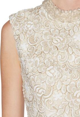 Gina Bacconi Juno Lace Dress And Chiffon Scarf