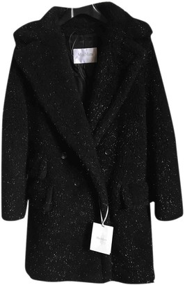 Max Mara Teddy Bear Icon Black Faux fur Coats