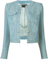 Balmain cropped embroidered jacket