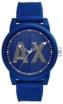 Armani Exchange Analog ATLC Silicone Strap Watch
