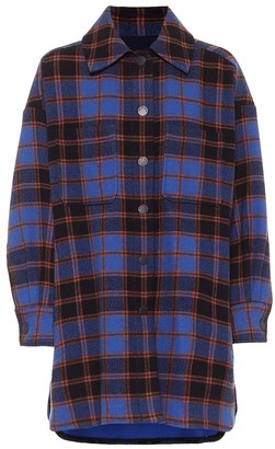See by Chloe Checked wool-blend jacket