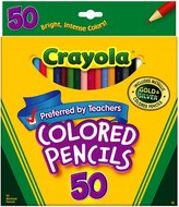 Crayola Long Colored Pencils - 50 Pencils