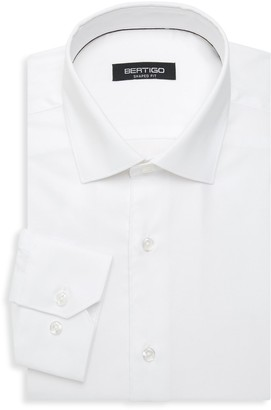 Bertigo Shaped-Fit Long-Sleeve Dress Shirt