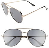 Quay Single 50mm Aviator Sunglasses