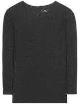 A.P.C. Diana silk-blend top