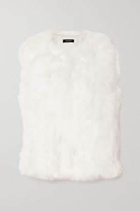 Yves Salomon Feather Vest - White