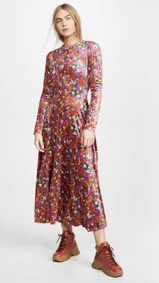 Free People Heartland Velvet Midi Dress